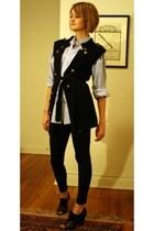 J Press shirt - forever 21 vest - American Apparel leggings - Pour La Victoire b