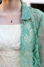 Ivory-lace-vintage-dress-chartreuse-lace-vintage-coat-green-peep-toe-steve-m