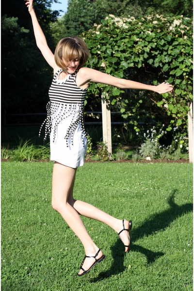 Target top - Petit Bateau dress - Theory shoes