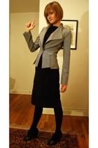 Reiss blazer - Express dress - Pour La Victoire boots