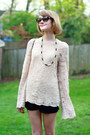 Black-quilted-chanel-bag-neutral-bell-sleeve-vintage-sweater