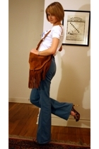 brown suede Urban Outfitters purse - brown hooker heels Report Signature shoes
