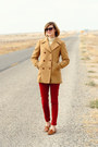 Ruby-red-skinny-zara-pants-camel-brooks-brothers-coat