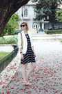 Navy-striped-mango-dress-white-tailored-zara-blazer