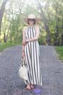 White-maxi-dress-loft-dress-light-yellow-straw-hat-kathy-jeanne-hat