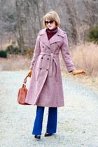 amethyst vintage coat - blue flared J Brand jeans