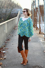 Aquamarine-poncho-vintage-sweater-tawny-knee-high-boots-michael-kors-boots