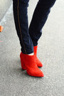 Red-ankle-boots-zara-boots-black-gold-striped-zara-jeans
