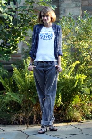 Topshop blazer - vintage t-shirt - Levis jeans - Jeffrey Campbell shoes - vintag