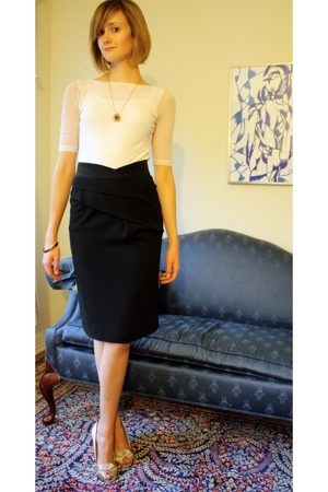 vintage necklace - Sweet Pea top - Reiss skirt - American Apparel top - karen mi