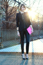 Black-tailored-zara-blazer-hot-pink-asos-bag-black-faux-leather-zara-pants