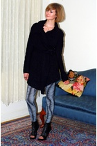 black Anthropologie sweater - black Givenchy boots - silver vintage necklace - s