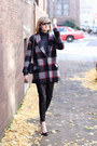 Heather-gray-plaid-bel-air-coat-gray-turtleneck-zara-sweater