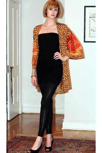 vintage blazer - H&M dress - costume dept leggings - PROENZA SCHOULER shoes
