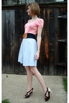 zuni necklace - Michael Stars top - vintage belt - vintage skirt - Pour La Victo