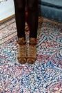 Gray-vintage-jacket-black-h-m-tights-gold-h-m-dress-brown-born-boots-bla