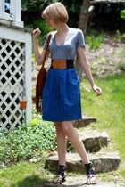 American Apparel t-shirt - vintage belt - vintage skirt - Sweet Life shoes - Urb