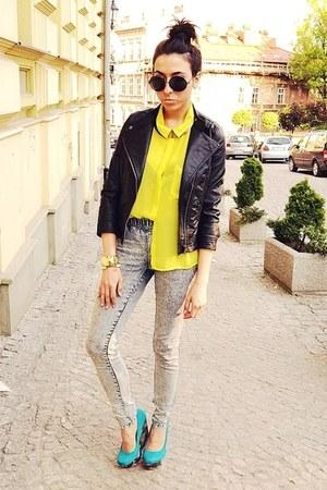 yellow New Yorker shirt - black Zara jacket