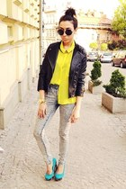 yellow New Yorker shirt - black Zara jacket