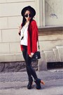 Ruby-red-second-hand-cardigan-black-h-m-hat-black-h-m-leggings