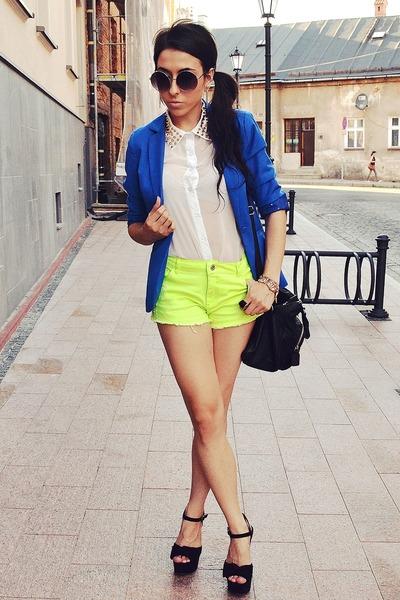 chartreuse wwwromwecom shorts