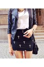 Black-bershka-skirt