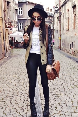 dark khaki Bershka jacket