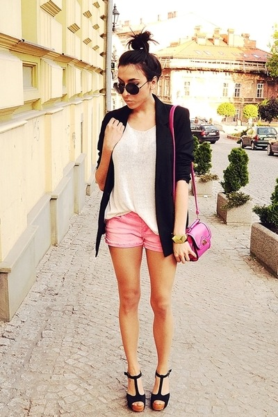 hot pink wwwoasapcom bag - black Bershka jacket