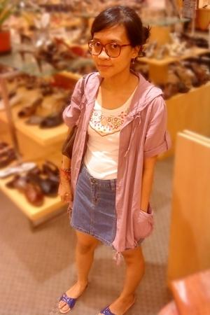 blouse - top - skirt - Parachute shoes