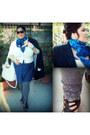 White-unbranded-bag-blue-kiabi-dress-white-forever21-sweater