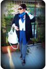 Blue-kiabi-dress-white-forever21-sweater