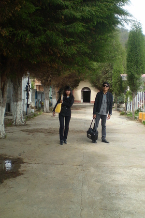 black Mossimo blazer - gray Mossimo blouse - gray Ripcurl pants - black ferreti