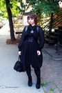 Black-asymetrical-moi-meme-moitie-dress-black-fake-fur-moi-meme-moitie-bag