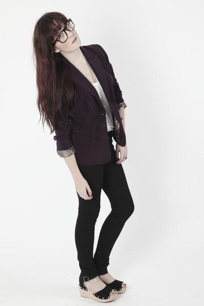 purple Dixi blazer - black Dixi glasses