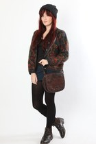 crimson Dixi cardigan - brown Dixi bag