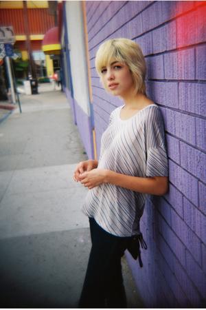 beige BDG shirt - blue Silence  Noise jeans - black Target purse - brown vintage