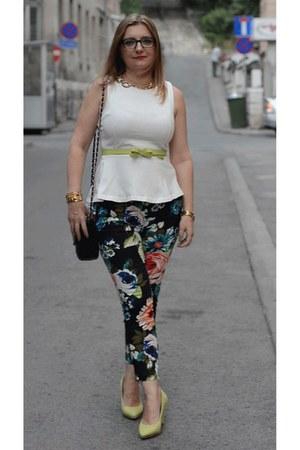 H&M pants - Zara top - Pour La Victoire wedges