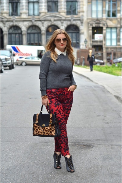 Helene Berman pants - Boutique 9 boots - Juicy Couture sweater - asoscom bag