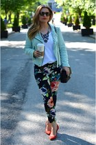 H&M pants - Zara jacket - Gap t-shirt - Pour La Victoire wedges - Zara necklace