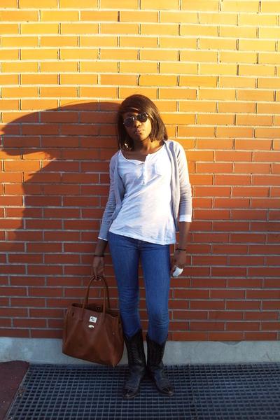 H&M vest - shirt - jeans - - Ray Ban accessories - glasses