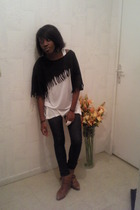 shirt - American Apparel top - Cheap Monday jeans - boots