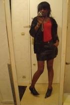 jacket - woldford shirt - skirt - MORGAN boots