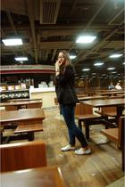 Zara blazer - Topshop jeans - myself shoes