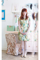cream gold  floral H&M dress