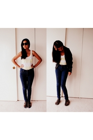 Ray Ban sunglasses - Lacoste top - BDG jeans - H&M jacket - H&M shoes