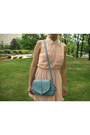 Peach-h-m-dress-light-blue-oasap-bag-black-gucci-sunglasses