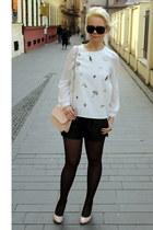 black OASAP shorts - light pink Mango bag - black Gucci sunglasses