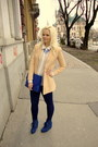 Blue-tally-weijl-necklace-navy-koton-leggings-nude-emporio-armani-blazer