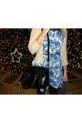 Black-oasap-bag-blue-asos-dress-light-pink-mango-sweater
