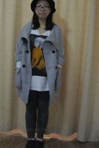 fashionable Only coat - Forever21 hat - Uniqlo leggings
